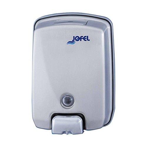 Jofel AC54000 Futura Dosificador de Jabón, Inox Satinado, Rellenable, 1 L