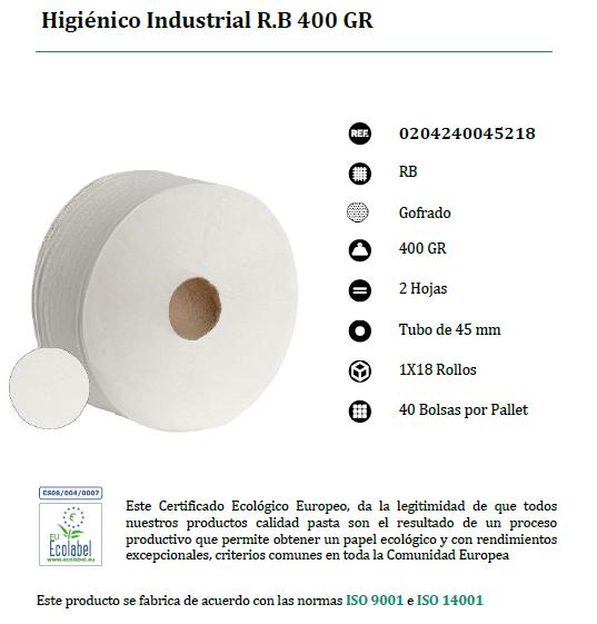 Rollo higienico industrial reciclado