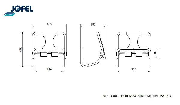 soporte de pared para bobinas de papel mecanico