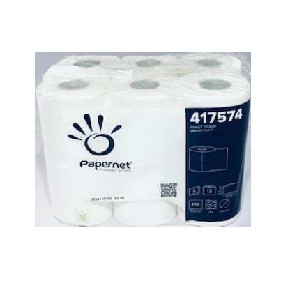 papel higienico 2 capas celulosa virgen