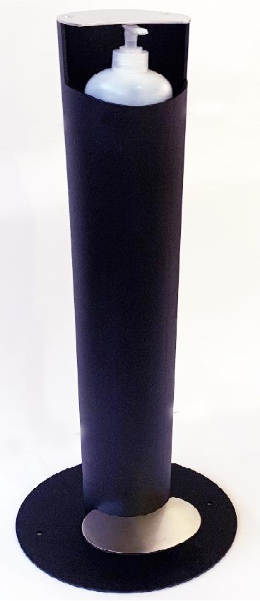 dosificador de gel hidroalcoholico con pedad